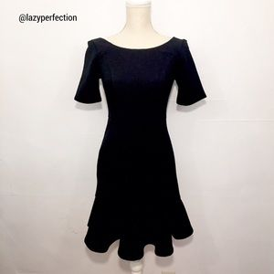 Anthro HD in Paris Marcelline Flounced Black Dress